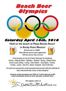Beach Beer Oympics Poster
