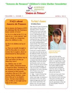 Friends of Amores newsletter